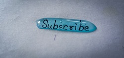 subscribe button icon, logo in 3d