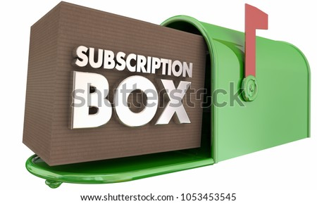 Subscription Box Service Delivery Mailbox 3d Illustration