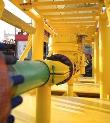 Subsea valves skid pipes arrangement frames