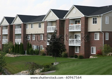 Suburban apartment complex - stock photo