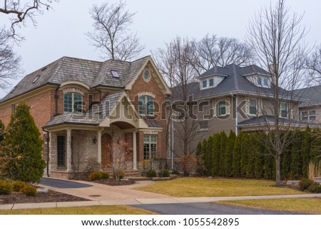 Suburban building in a North Chicago area #1055542895