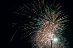 Suburban Fireworks Demonstration - In the suburbs there is no where to stand without a lamp post - Suburban fireworks provide a good display of fireworks, however they do not have the backdrops of the