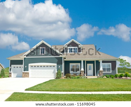 Suburban Home - A beautiful vinyl siding home in the suburbs in Michigan,  USA.