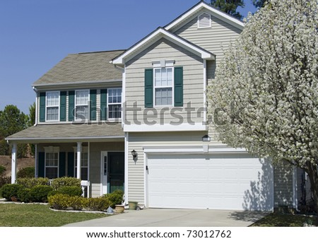 Suburban house in springtime