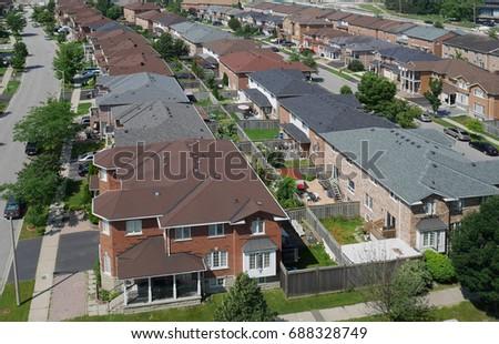 suburban neighborhood #688328749