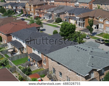 suburban neighborhood #688328755
