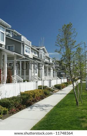 Suburban Row Homes - stock photo