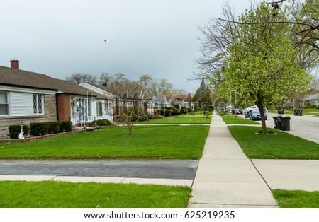 Suburban street #625219235