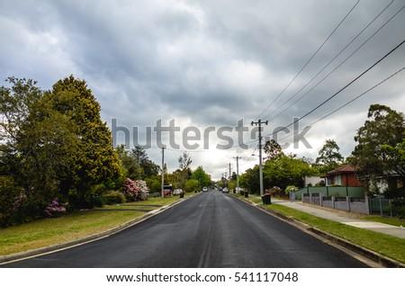 Suburban street, Australia #541117048