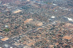 Suburbia in the USA - suburban neighborhoods in Las Vegas, Nevada.