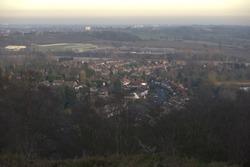 suburbs birmingham england uk factory housing