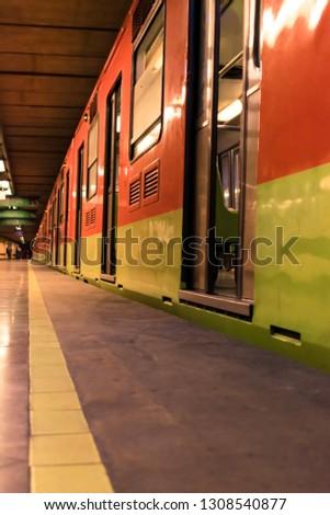 Subway in Mexico City #1308540877