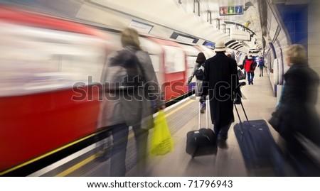 Subway station in London, UK