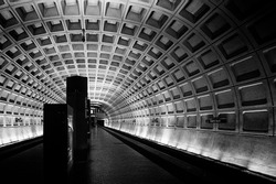Subway station, Washington DC, USA