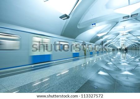 Subway train - stock photo