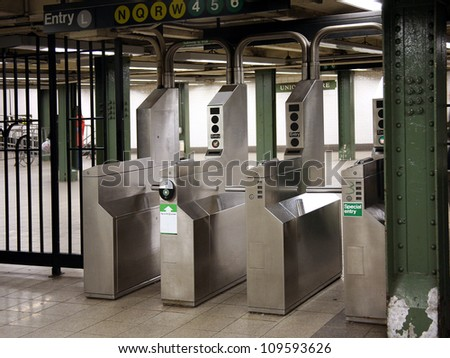 subway turnstile entrance