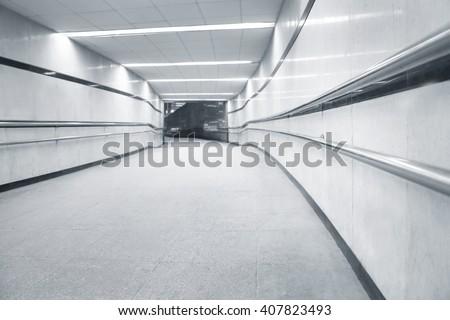 Subway underpass tunel passage for pedestrians