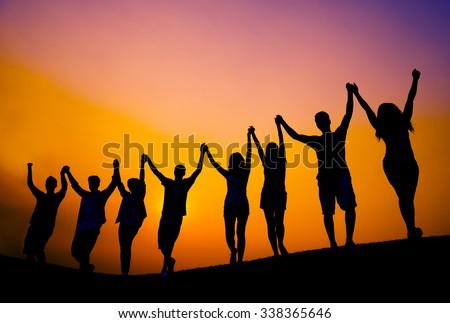 Success Celebration Cheerful Achievement Concept