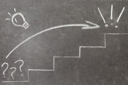 Success concept drawing