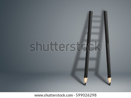 success creative concept, pencil Ladder #599026298