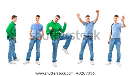 success mans isolated over white background