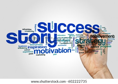 Success story word cloud concept on grey background #602222735