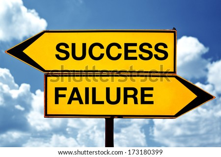 Success versus failure, opposite direction signs