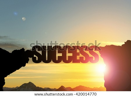 Success word as concept #420014770