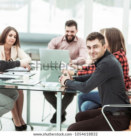 successful business team at the workplace in the office