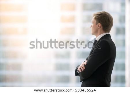 successful businessman in suit...