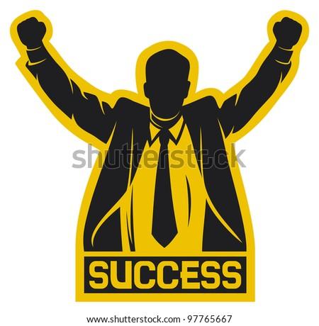 successful businessman (success) - stock photo
