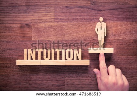 Successful manager has business intuition. Businessman with intuition has potential to growth. #471686519