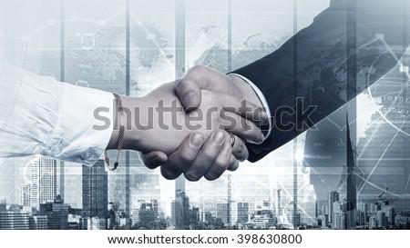Successful partnership concept #398630800