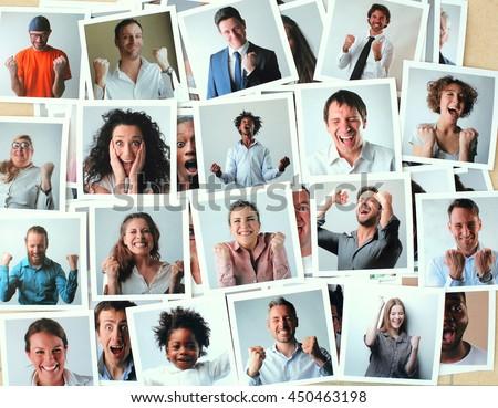 Successful people jubilating