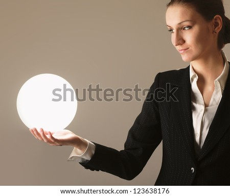 successful person, isolated on beige background
