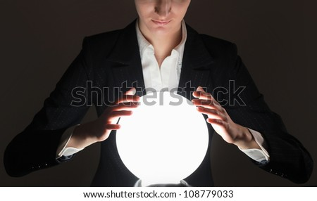 successful person, isolated on black background #108779033