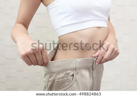 Successful woman on diet #498824863