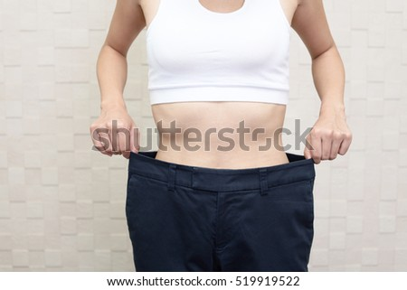 Successful woman on diet #519919522