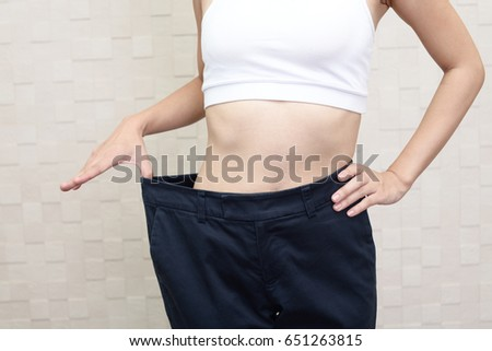 Successful woman on diet #651263815