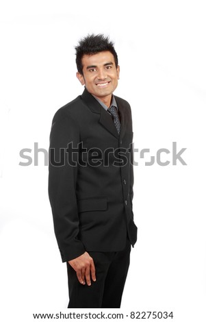 successful young arabic businessman smiling