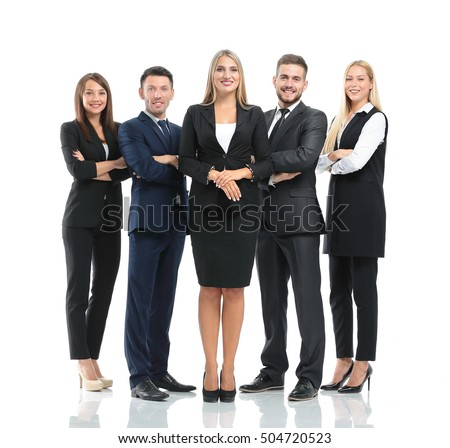 Successfull busines team isolated on white background #504720523