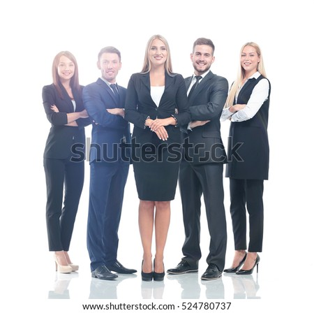 Successfull busines team isolated on white background #524780737