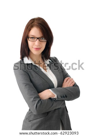 Sucessful business woman with glasses