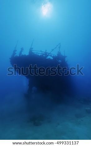 Sudan, Red Sea, a sunken ship wreck #499331137