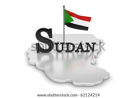 Sudan Tribute/Digitally rendered scene with flag and typography