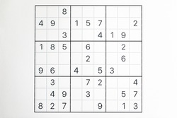 Sudoku puzzle that has not been solved yet