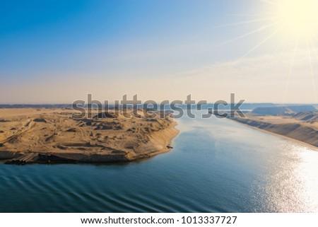 Suez Canal landscape #1013337727