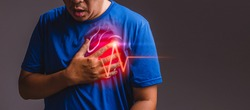 Suffering from chest pain, having heart attack after workout.