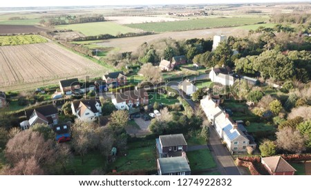 Suffolk village drone pictures