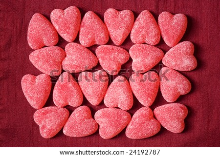 Sugar candy Valentine's hearts